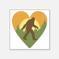 "Bigfoot Love Square Sticker 3"" x 3"""