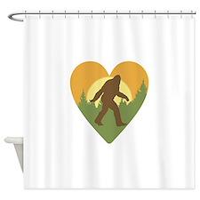 Bigfoot Love Shower Curtain