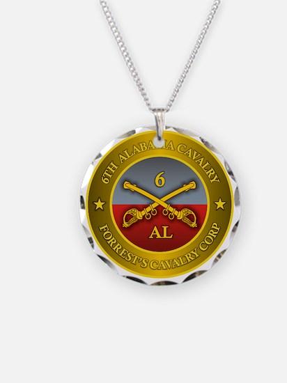 6th Alabama Cavalry Necklace Circle Charm