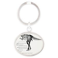 T-Rex Bones Oval Keychain