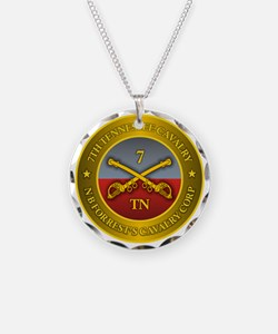 7th Tennessee Cavalry Necklace Circle Charm