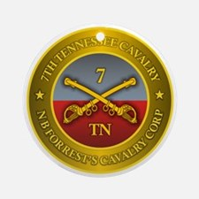 7th Tennessee Cavalry Round Ornament