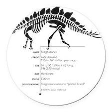 Stegosaurus Bones Round Car Magnet