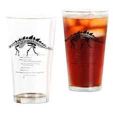 Stegosaurus Bones Drinking Glass
