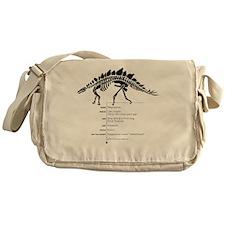 Stegosaurus Bones Messenger Bag