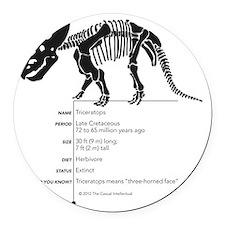 Triceratops Bones Round Car Magnet