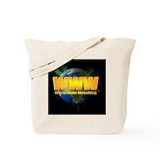 World Wide Wrestling Blast Logo Tote Bag