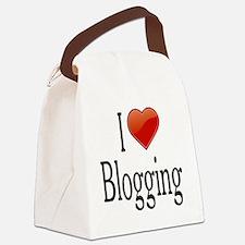I Love Blogging Canvas Lunch Bag