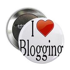 """I Love Blogging 2.25"""" Button"""