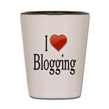 I Love Blogging Shot Glass
