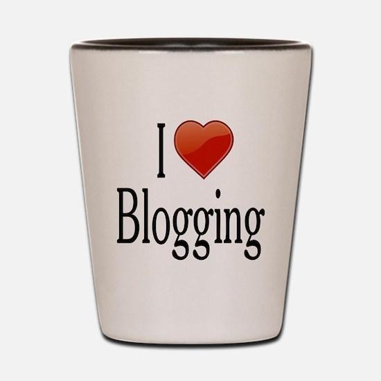 I Love Blogging Shot Glass