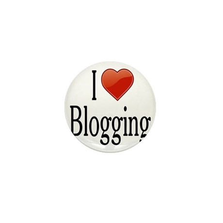 I Love Blogging Mini Button