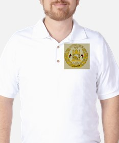 Afghanistan Coat Of Arms Golf Shirt
