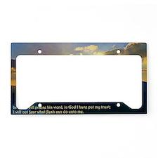 Psalms 56:4 License Plate Holder