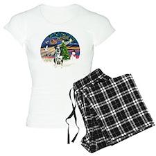 R-XmasMagic-CatahoulaLeopar Pajamas