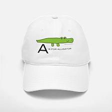 A is for Alligator Baseball Baseball Cap