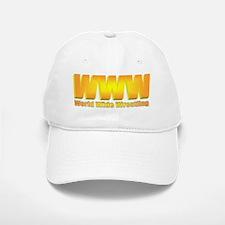 World Wide Wrestling Words only Baseball Baseball Cap