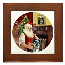 R-Santa-CatahoulaLeopardDog Framed Tile