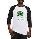 Kiss Me I'm Irish Baseball Jersey