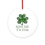 Kiss Me I'm Irish Ornament (Round)