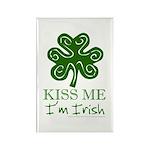 Kiss Me I'm Irish Rectangle Magnet (100 pack)