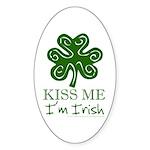 Kiss Me I'm Irish Oval Sticker