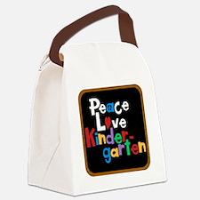 Peace Love Kindergarten Bag Canvas Lunch Bag