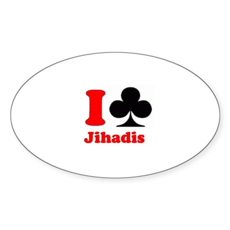 I Club Oval Sticker