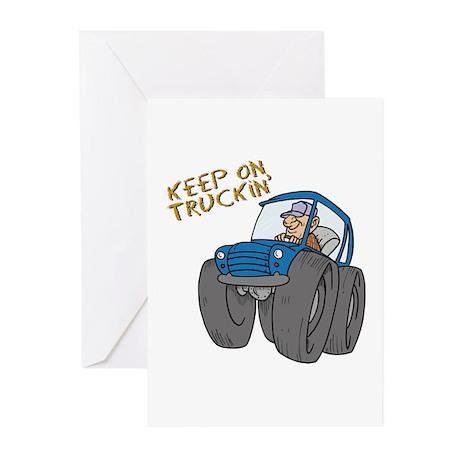 Keep on Truckin' Redneck Design Greeting Cards (Pa