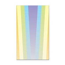 Pastel Rainbow Rectangle Car Magnet