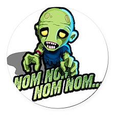 Plight of the Zombie Nom Nom Nom Round Car Magnet