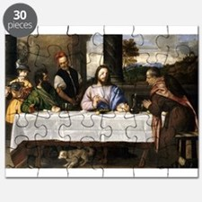 Supper of Emmaus - Titian - c1535 Puzzle