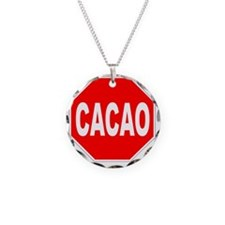 Cacao Stop Sign Necklace