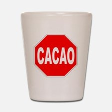 Cacao Stop Sign Shot Glass