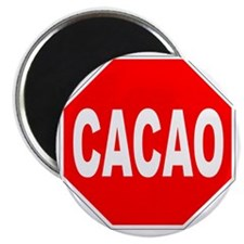 Cacao Stop Sign Magnet