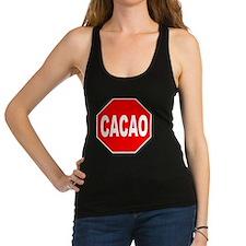 Cacao Stop Sign Racerback Tank Top