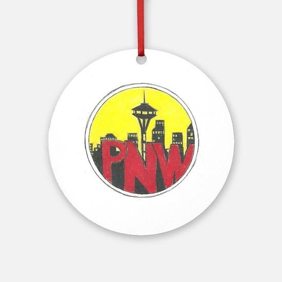 PNW Round Ornament