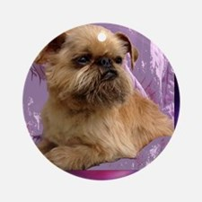 brussels griffon Round Ornament