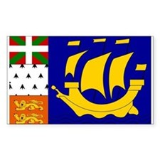St Pierre and Miquelon Rectangle Decal