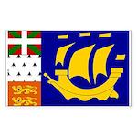 St Pierre and Miquelon Rectangle Sticker