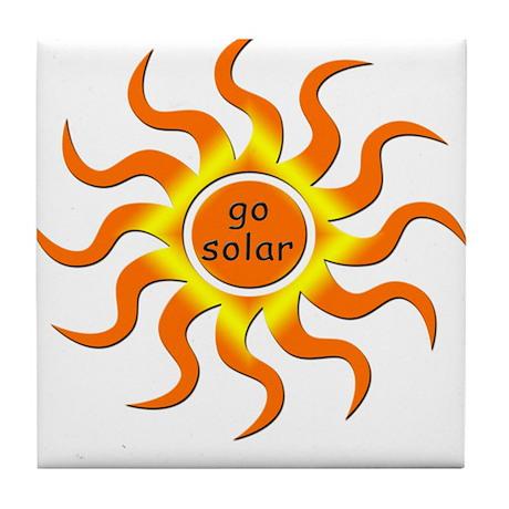 Solar Energy - Go Green Tile Coaster