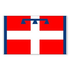 Piemonte Flag Rectangle Decal