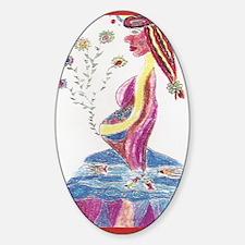 Pregnant Mermaid Decal