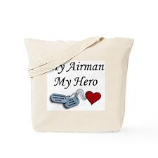 Air Force Airman Hero Dog Tag Tote Bag