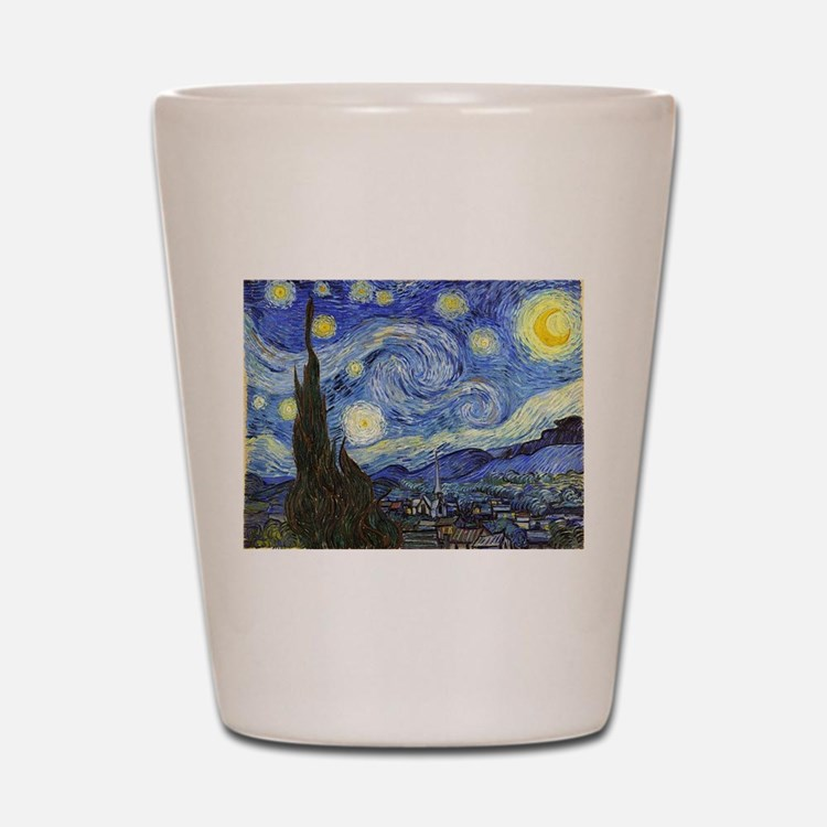 Starry Night - Van Gogh Shot Glass