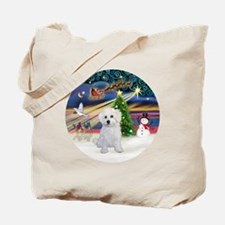 Bolognese puppy Tote Bag
