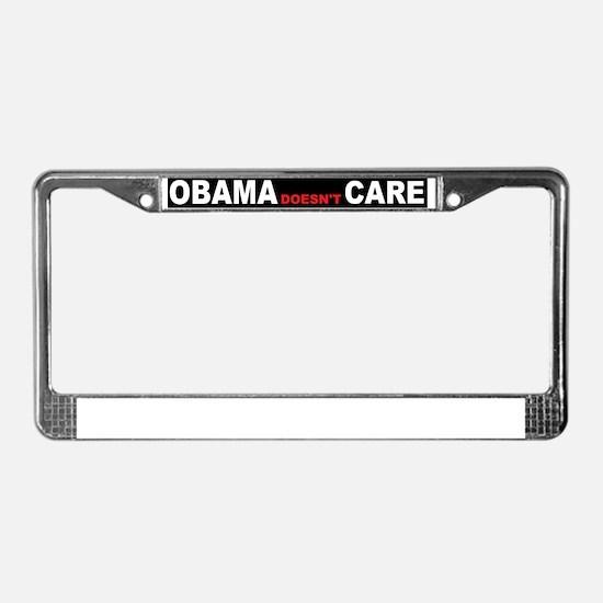 anti obama cared License Plate Frame