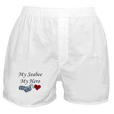 Navy Seabee Hero Dog Tags Boxer Shorts