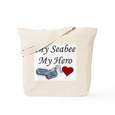 Navy Seabee Hero Dog Tags Tote Bag
