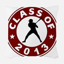 Class Of 2013 Baseball Woven Throw Pillow